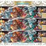 Les Légendaires en timbre poste