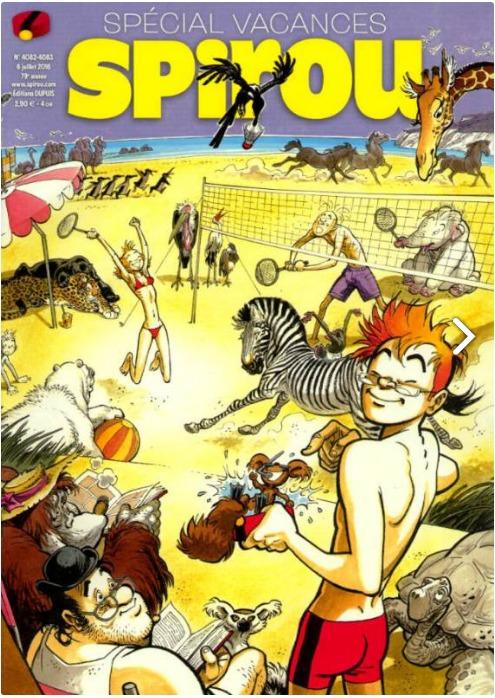 Spécial vacances c'est avec Spirou qui commence une nouvelle aventure