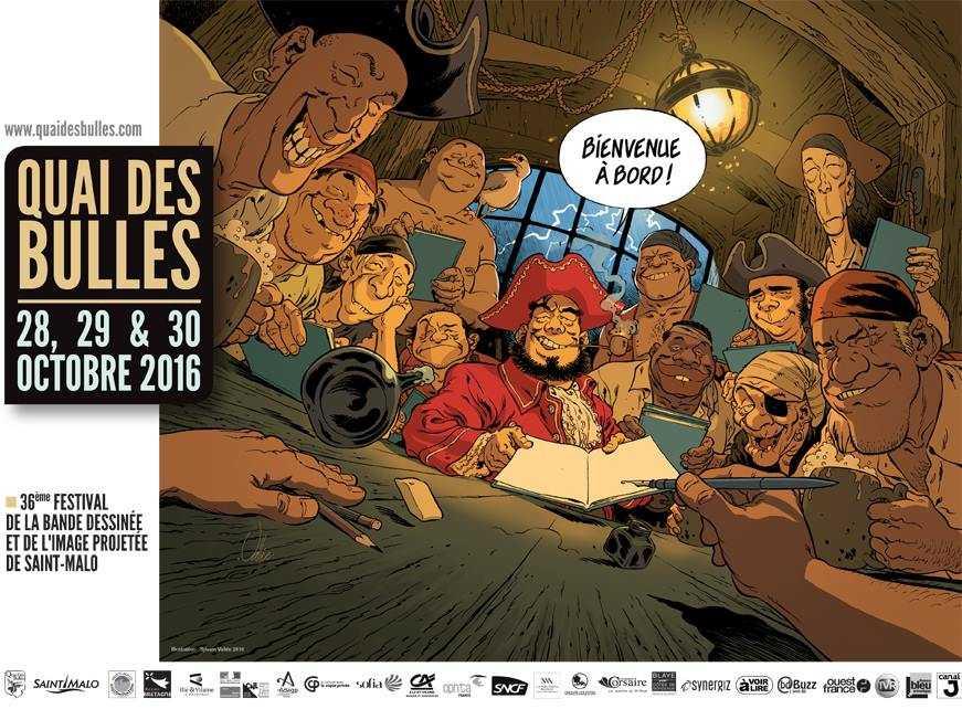 Quai des Bulles à Saint-Malo 2016, l'affiche signée par Sylvain Vallée