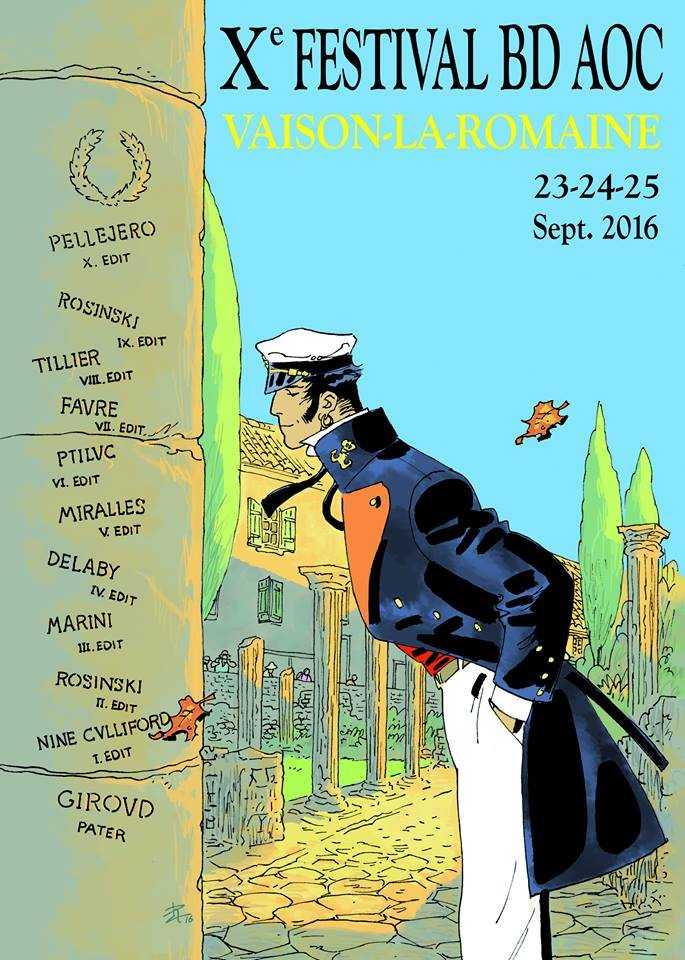 Festival de Vaison-la-Romaine 2016 : Corto Maltese avec Pellejero président du 23 au 25 septembre