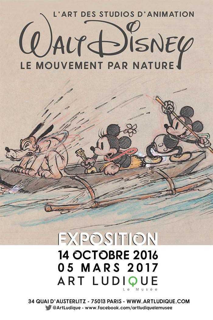 Du 14 octobre au 5 mars, Art Ludique - Le Musée présente en première mondiale : L'Art des Studios d'Animation Walt Disney - Le Mouvement par Nature