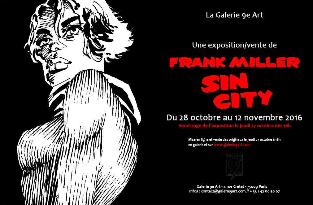 Sin City et Frank Miller à la galerie 9e Art à Paris