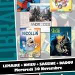 Nhieu, Dadou, Lemaire et Sassine chez Planètes Interdites le 30 novembre
