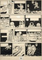 1,55 million d'euros pour une planche de Tintin «On a marché sur la lune»