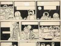 """1,55 million d'euros pour une planche de Tintin """"On a marché sur la lune"""""""