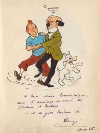 La valse de Tintin, Milou et du Professeur Tournesol