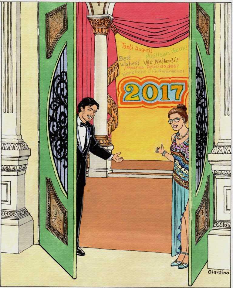 Giardino vous souhaite une très bonne année 2017 et Ligne Claire vous présente ses meilleurs vœux