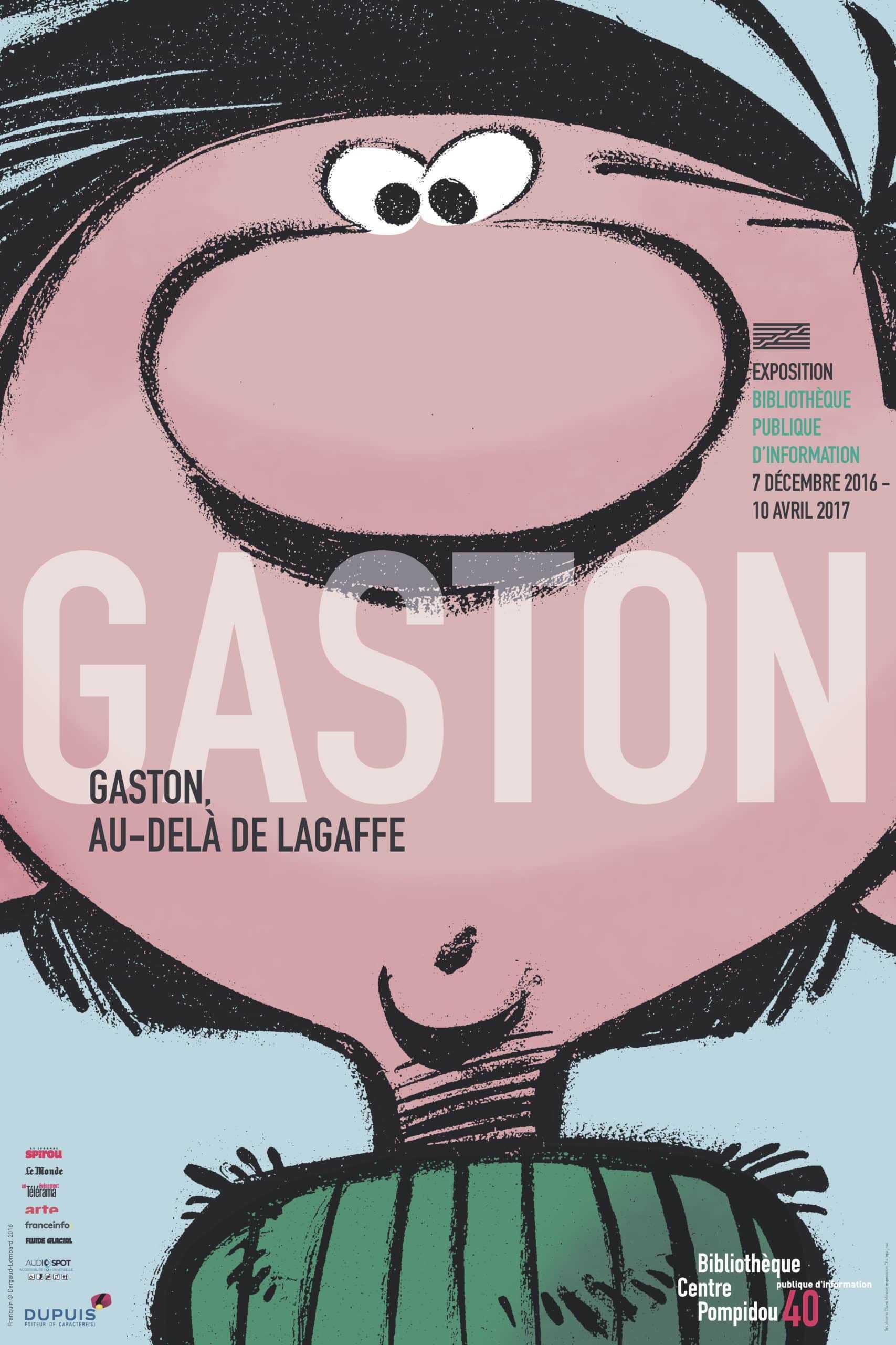 Gaston s'expose au-delà de Lagaffe à la Bibliothèque du Centre Pompidou à Paris