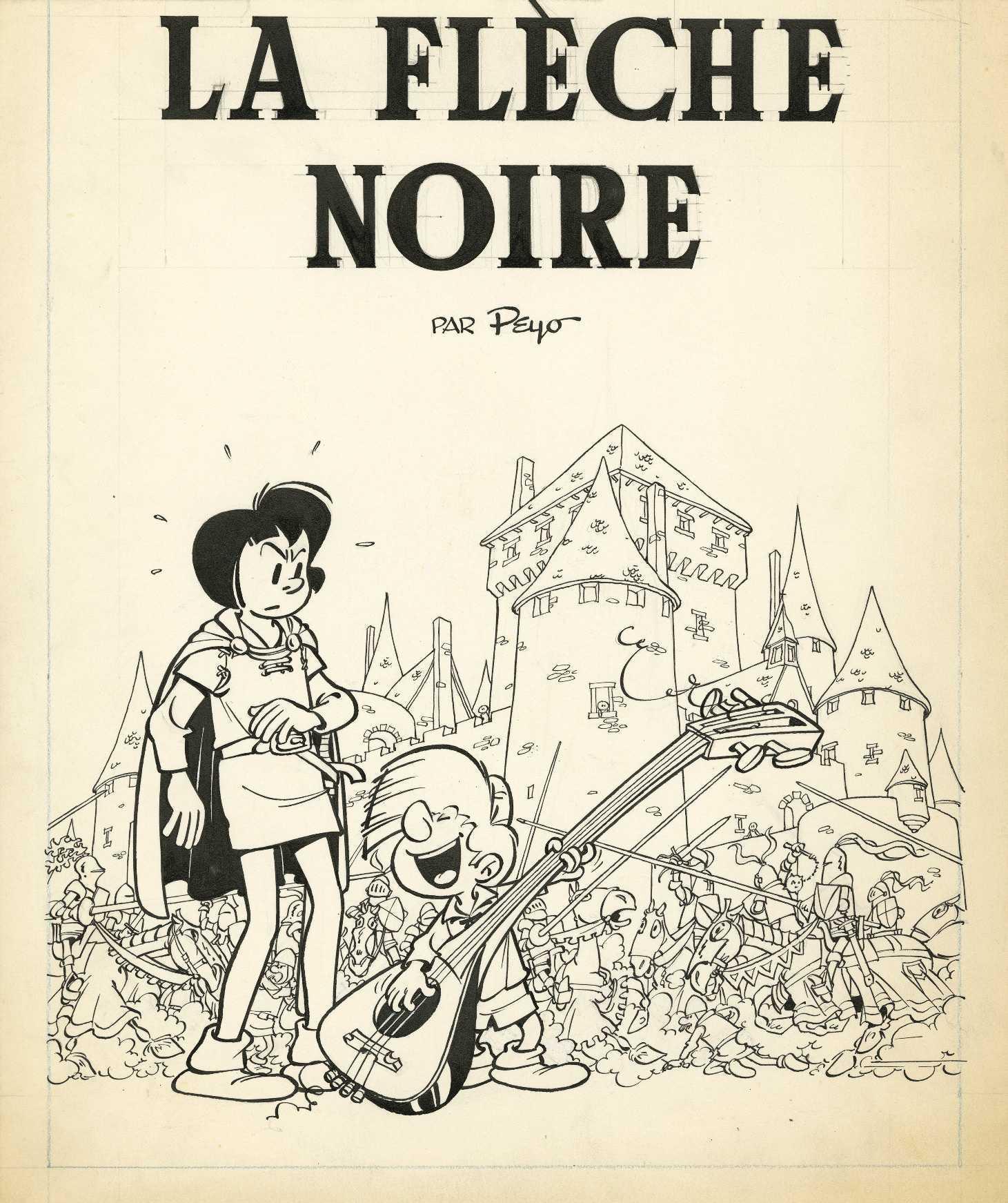 Peyo, Franquin, Hubinon, Jacobs, Hergé, Uderzo, Giraud, Greg, pour une vente d'exception à Bruxelles le 11 décembre chez Huberty & Breyne
