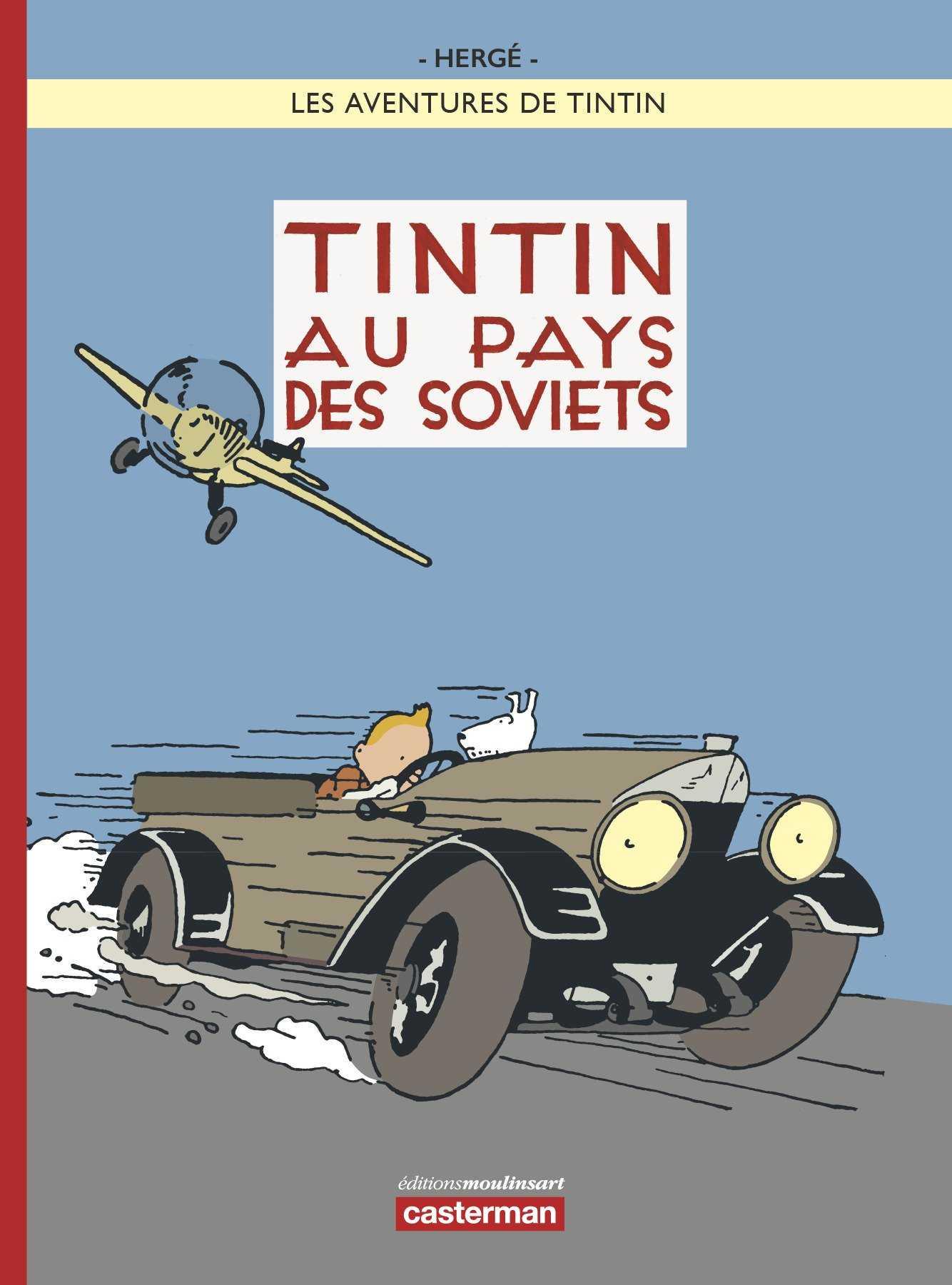 La couverture de Tintin au pays des Soviets version en couleur