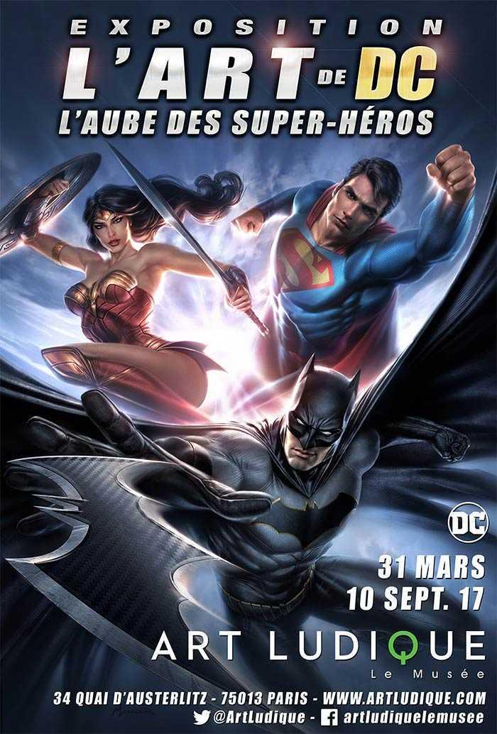 L'Art de DC - L'Aube des Super-Héros, du 31 mars au 10 septembre chez Art Ludique à Paris