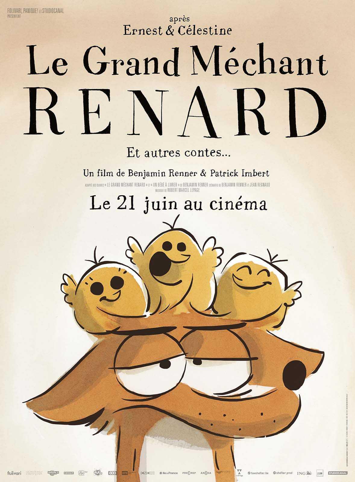 Le Grand Méchant Renard au cinéma le 21 juin