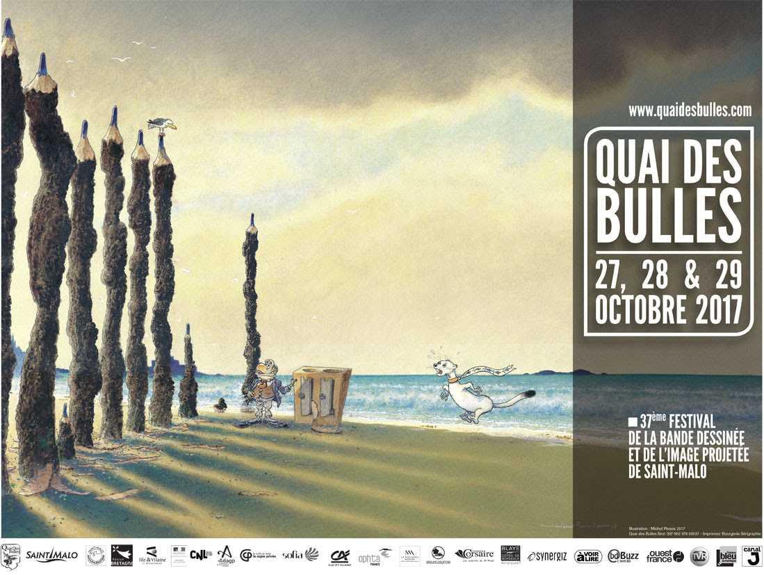Quai des Bulles 2017, l'affiche signée par Michel Plessix