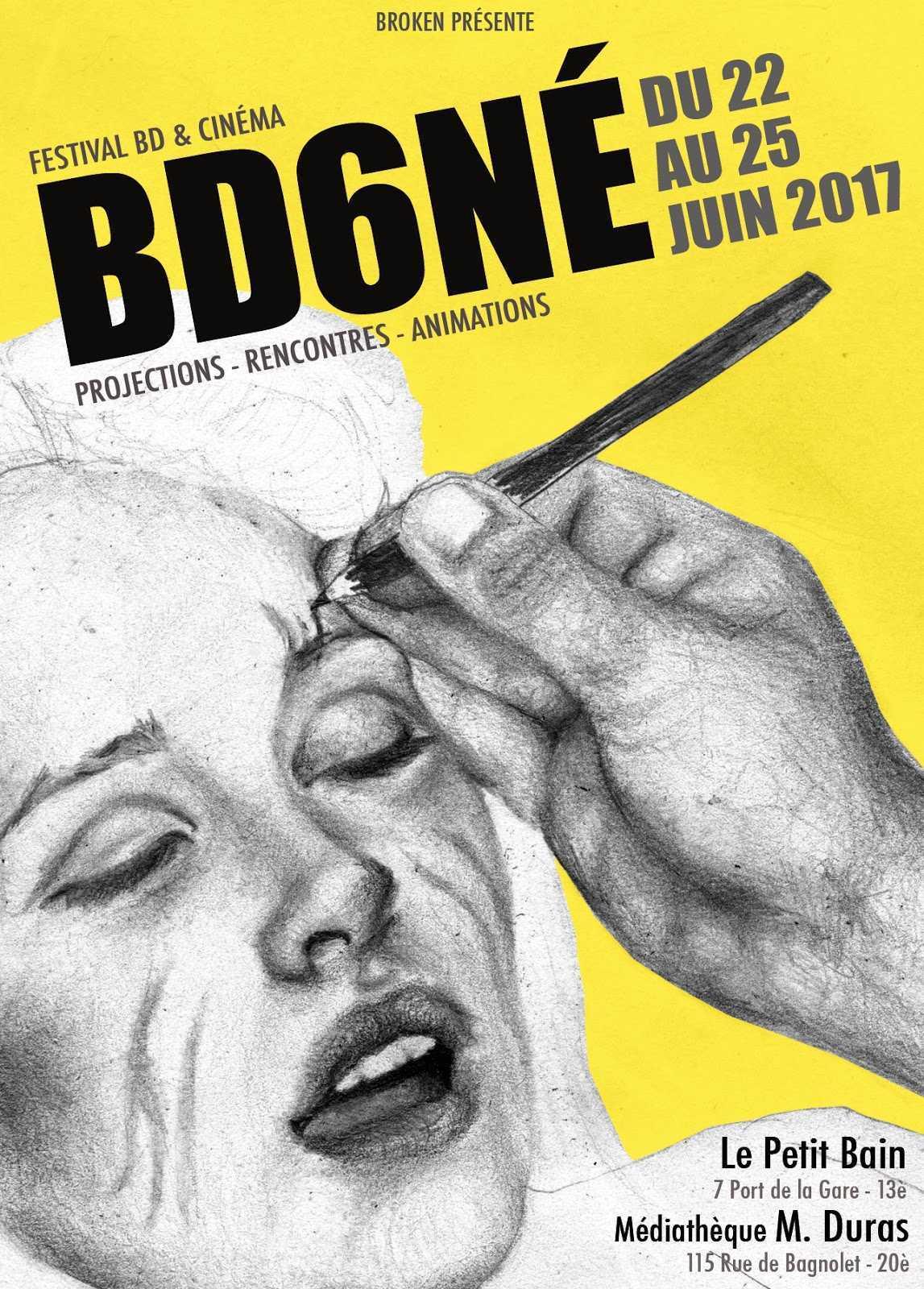 BD6Né, BD et cinéma font cause commune à Paris du 22 au 25 juin