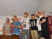 Le lauréat Hüsch avec les autres nominés, de droite à gauche Jovanovic, Bringel, Bertrand. Photo ®