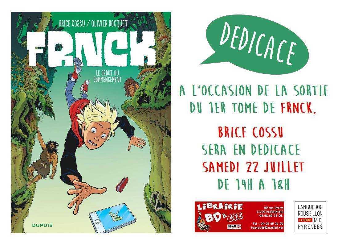 Brice Cossu avec FRNCK en dédicace à Narbonne le 22 juillet