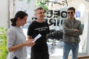 Raphaëlle Perret, Fabrice Erre et Gérard Viry-Babel