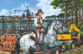 La Piste cavalière, Michel Faure à plein galop