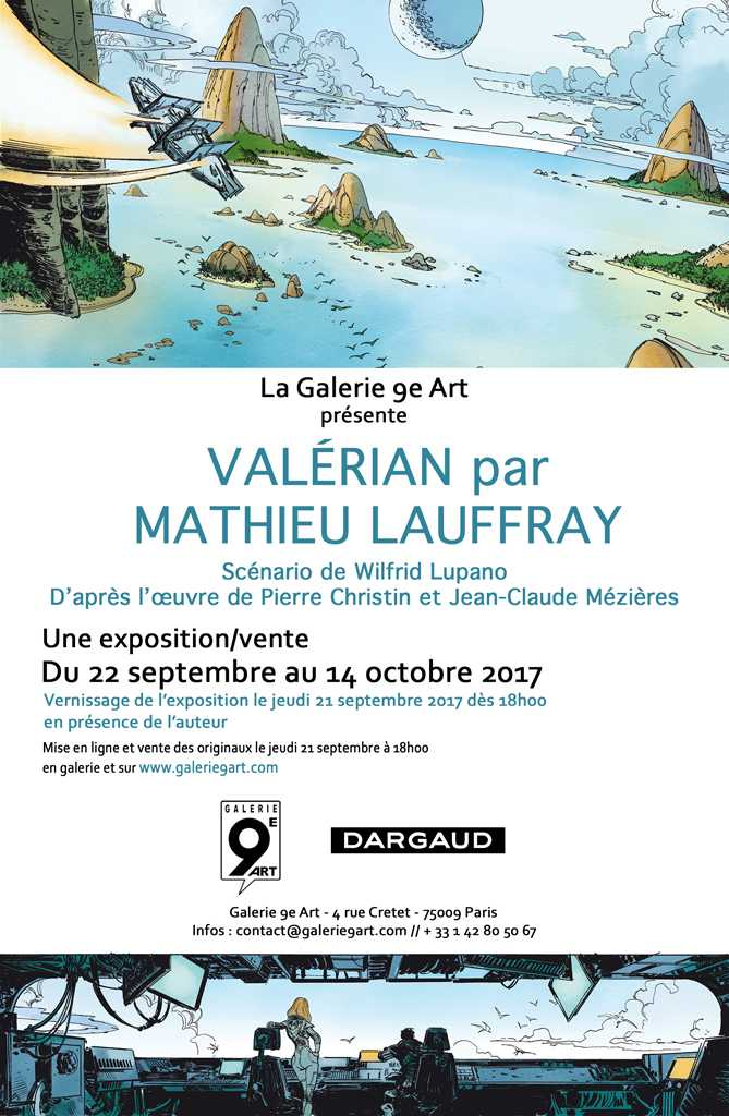 Mathieu Lauffray expose son Valérian galerie du 9e Art