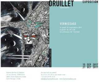 Druillet expose «Explorations»  à Paris chez Barbier et Mathon