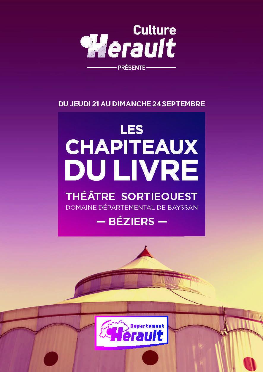 Chapiteaux du Livre, la BD est aussi en fête domaine de Bayssan les 23 et 24 septembre