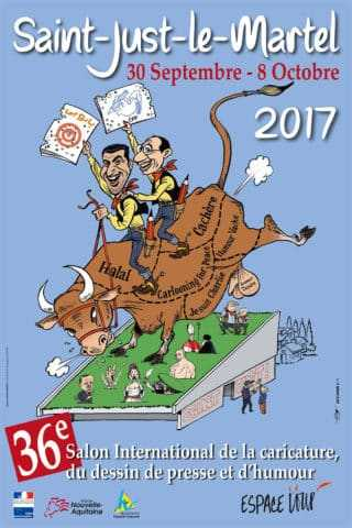 Salon international de la caricature, du dessin de presse et d'humour de Saint-Just-le-Martel 2017
