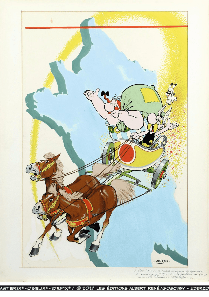 Collection Tchernia, la couverture du Tour de Gaule d'Astérix vendue 1,4 million d'euros