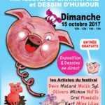 Brugairolles 2017, caricatures, dessinateurs et le cochon en vedette