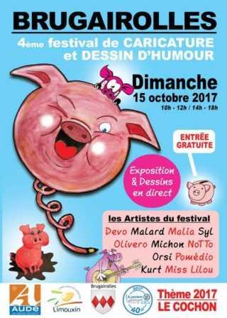 Festival de caricature et dessin d'humour de Brugairolles 2017