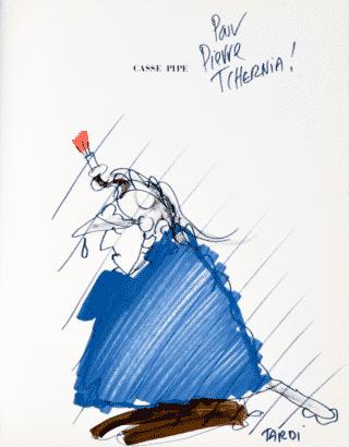 Dédicace de Jacques Tardi pour Pierre Tchernia