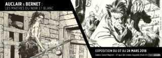 Les Maîtres du noir et blanc, Auclair et Jordi Bernet chez Maghen jusqu'au 24 mars