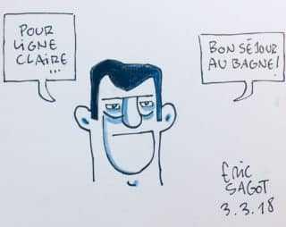 Dédicace d'Eric Sagot
