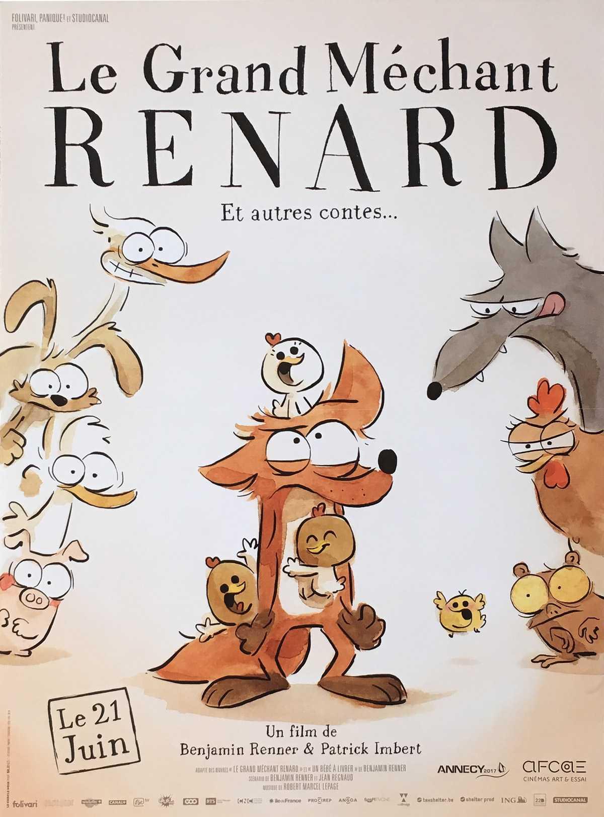 Le Grand Méchant Renard reçoit le César 2018 du film d'animation
