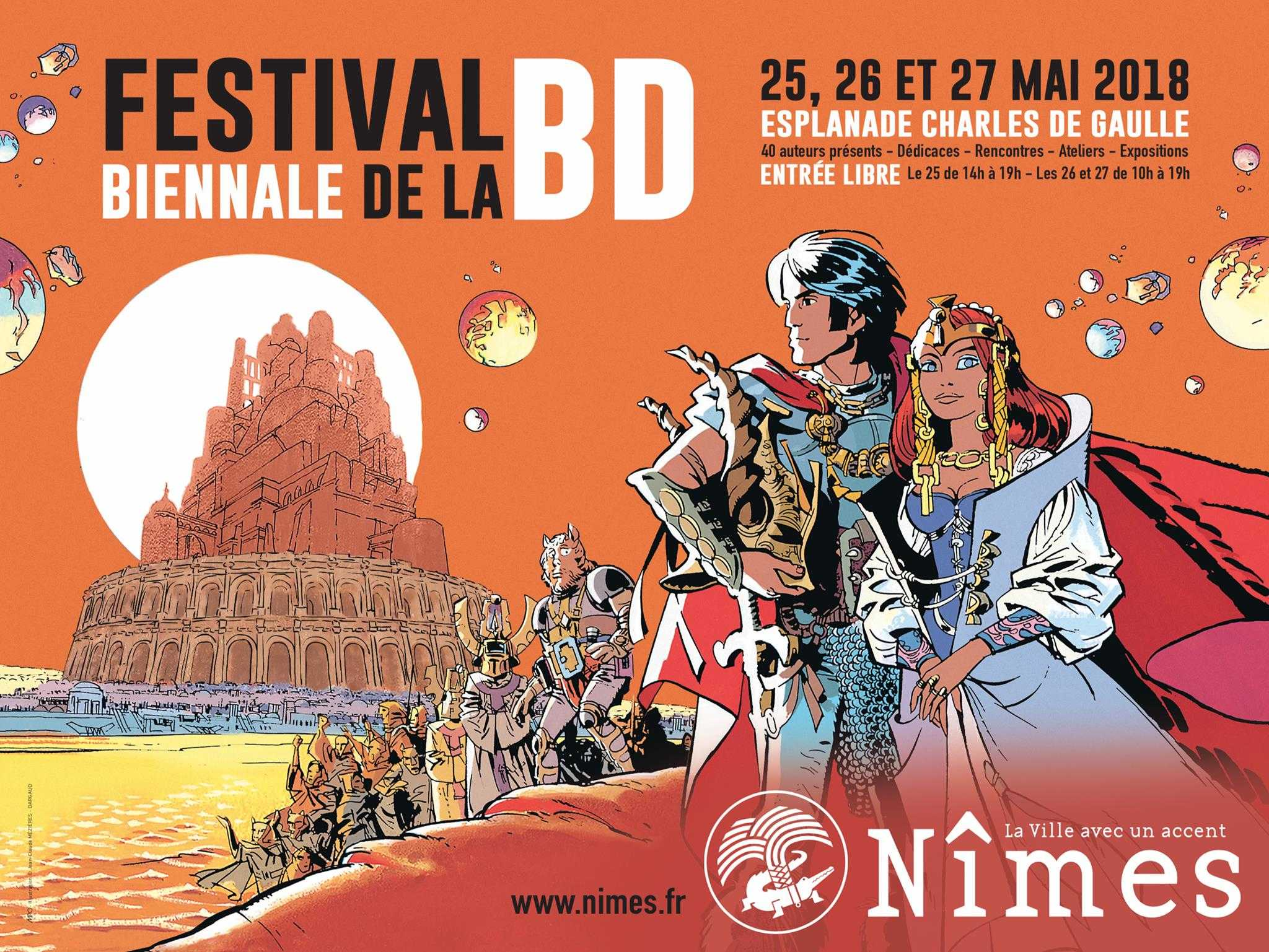 Jean-Claude Mézières parrain de la Biennale BD de Nîmes 2018 les 25, 26 et 27 mai