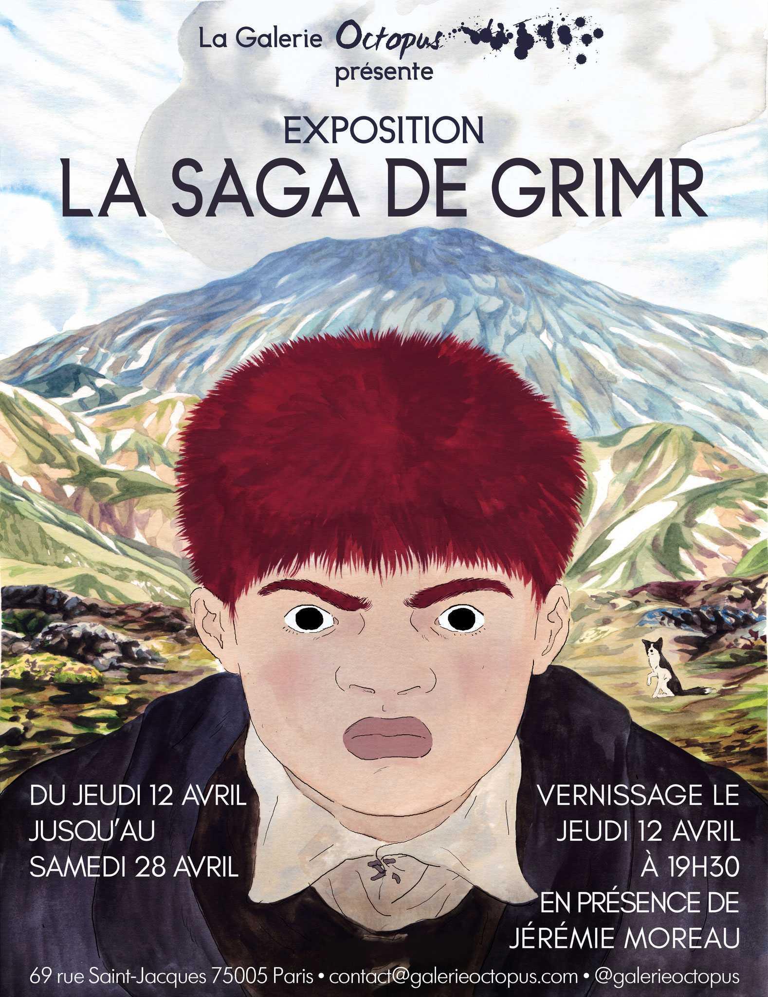 Jérémie Moreau et La Saga de Grimr chez Octopus à Paris dès le 12 avril