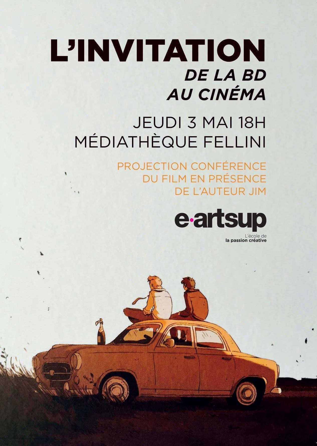 L'Invitation adaptée de Jim et Mermoux en projection gratuite le 3 mai à Montpellier