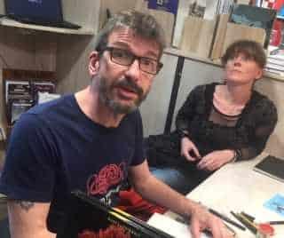 Lionel Marty et Cécile