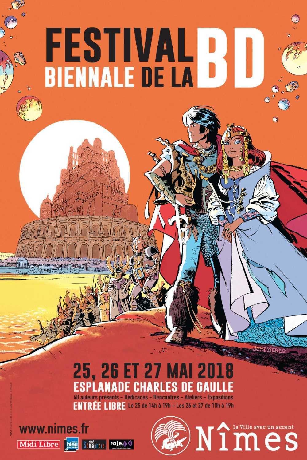 Biennale BD de Nîmes 2018, Mézières avec un plateau d'auteurs et Jailloux primé pour Alix