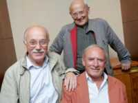 William Vance, Jean Van Hamme et Jean Giraud. Photo Alexis Haulot ©