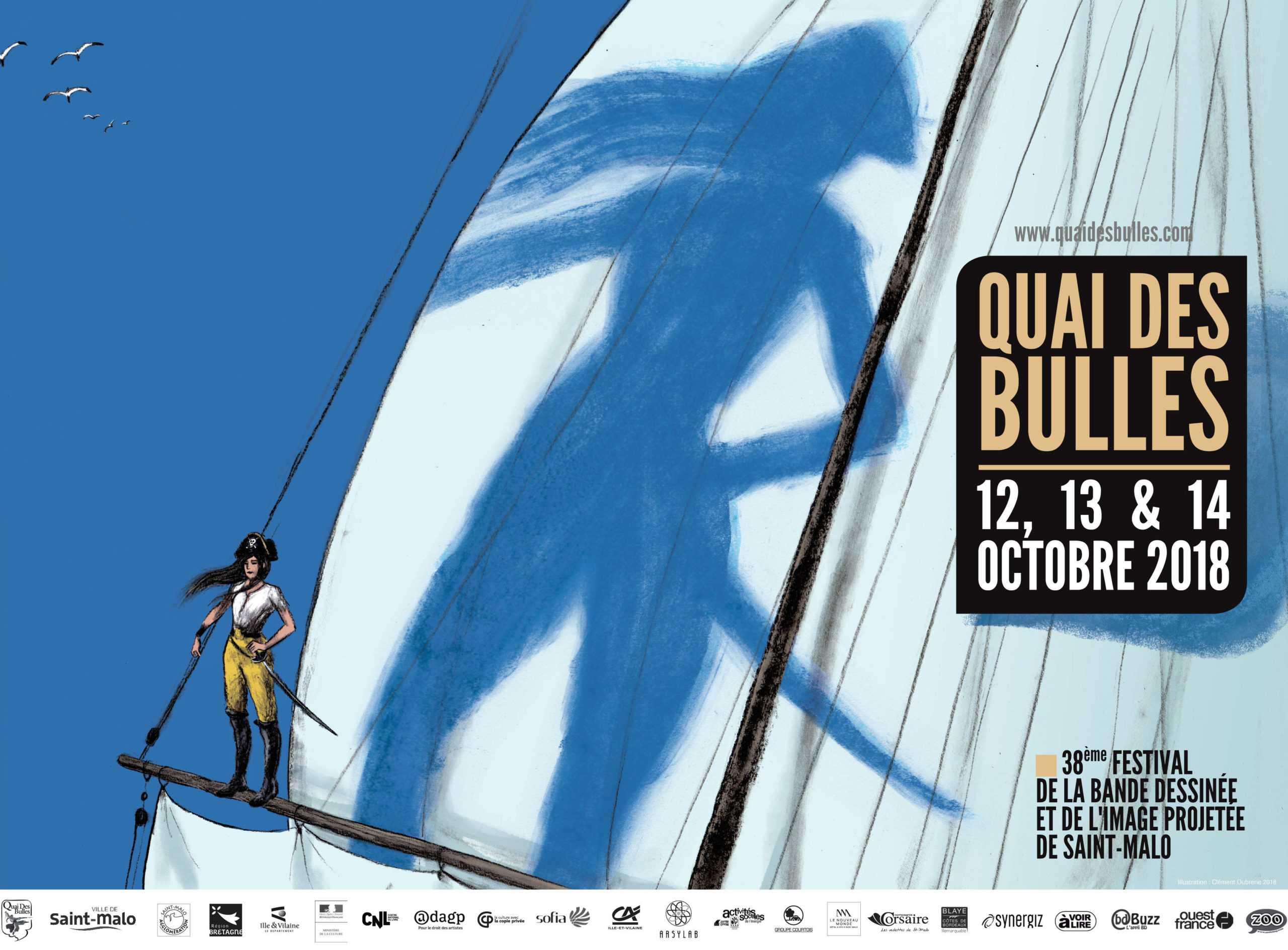 Saint-Malo, l'affiche Quai des Bulles 2018 signée par Clément Oubrerie