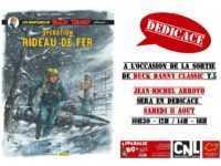 Arroyo en dédicace pour Opération Rideau de fer chez BD & Cie à Narbonne le 11 août