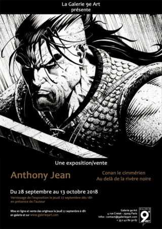 Anthony Jean expose son Conan à la Galerie 9e Art à Paris le 28 septembre 2018