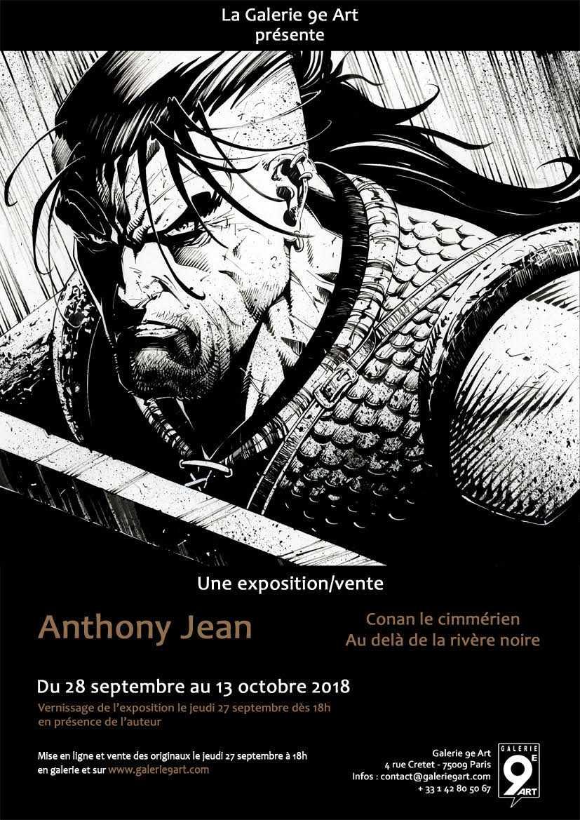 Anthony Jean expose son Conan à la Galerie 9e Art à Paris le 28 septembre 2018