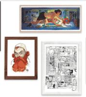 Une Galerie des auteurs chez Collector BD pour des planches vendues en ligne et en direct