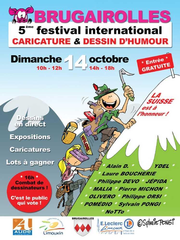 Brugairolles 2018, caricatures, dessinateurs et combat de dessins
