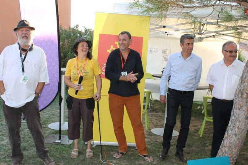 Roland et Emmanuelle Grimaud, Claude Pelet, Nicolas Démoulin et Jacques Martinier