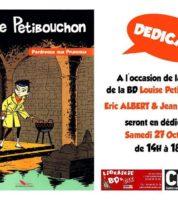 Jean Depelley et Eric Albert en dédicace à Narbonne pour Louise Petibouchon le 27 octobre 2018