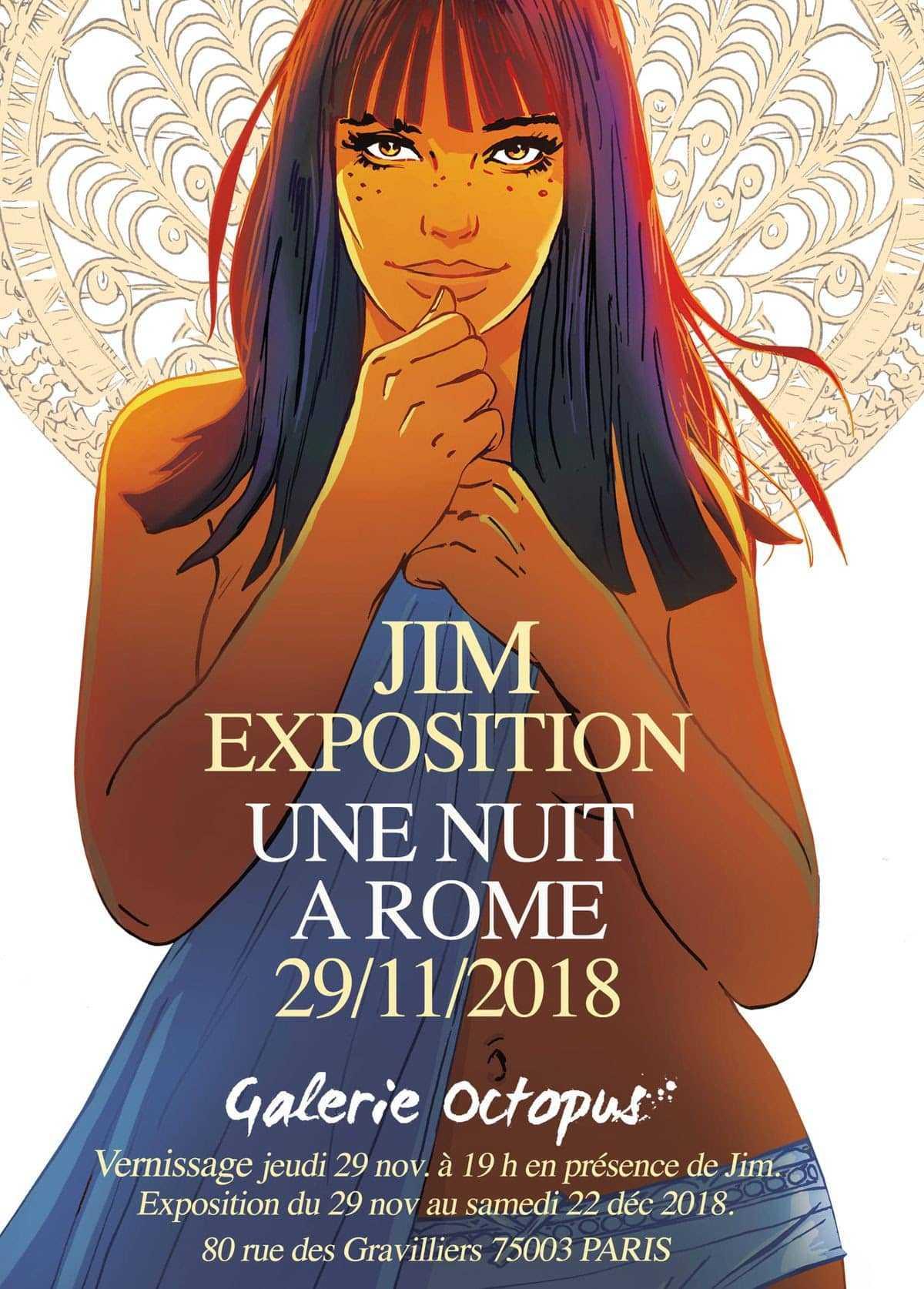 Jim, chez Octopus à Paris, expose Une nuit à Rome à partir du 29 novembre
