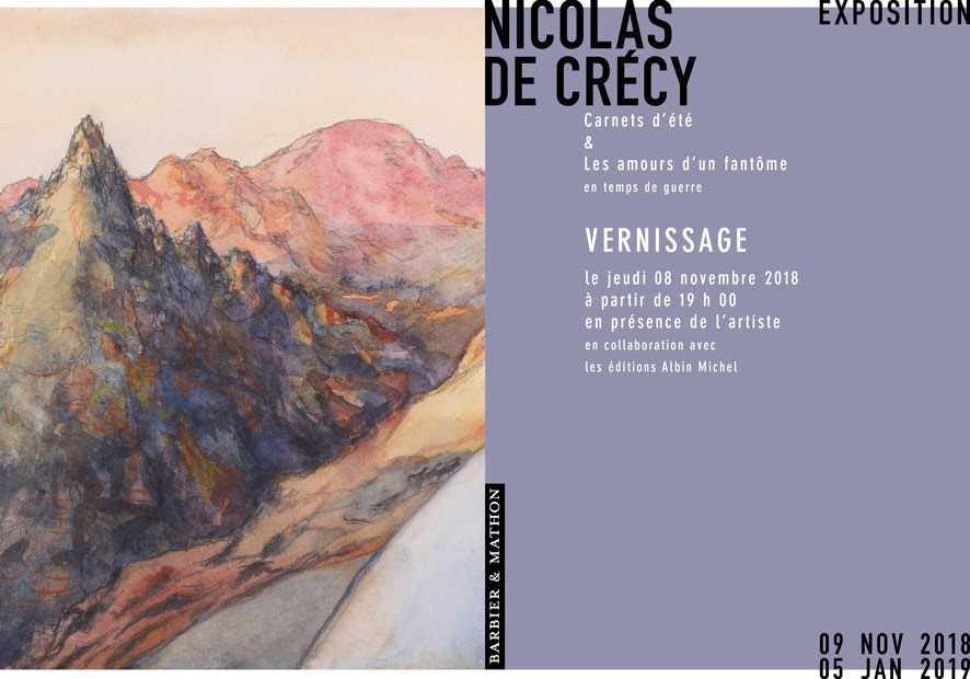 Exposition chez Barbier & Mathon le 9 novembre : Pour Nicolas de Crécy