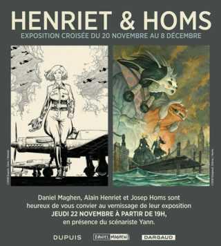 Henriet et Homs pour une exposition croisée chez Maghen à Paris dès le 20 novembre 2018